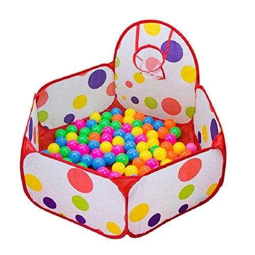 Amison - vasca esagonale a pop up, a pois, per bambini, per giocare, portatile, utilizzabile come tenda, contenitore per giocattoli