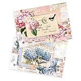 Ideen mit Herz 2 Bogen Reispapier | Edel-Decoupage-Papier | DIN A4 | 2 Verschiedene Designs | Vintage, Weihnachten und andere (Vintage 01)