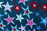 Wellnessfleece Sterne petrol (10 cm)