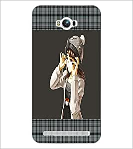 PrintDhaba Girl with Spectacles D-1323 Back Case Cover for ASUS ZENFONE MAX ZC550KL (2016) (Multi-Coloured)