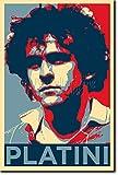 Michel Platini - Art Print (Parodie Obama Hope) Poster Photo Glacé Cadeau 30x20 cm affiche 30 x 20 cm