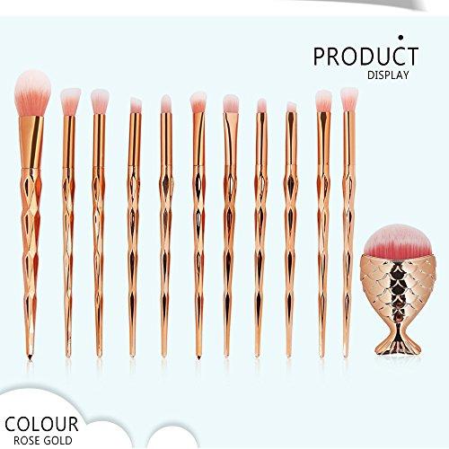 Regenbogen Einhorn Unicorn Make Up Brush Set 12stück Pro Bunt Diamant Makeup Pinsel Set Highlighter...