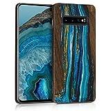 kwmobile Samsung Galaxy S10 Plus Cover - Custodia Protettiva in Legno - Back Case Posteriore per Smartphone Samsung Galaxy S10 Plus