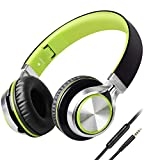 biensound HW50zusammenklappbare Stereo-Kopfhörer, Starke/niedrige Bass-Einstellung, Kopfhörer mit Mikrofon für iPhone und alle Android-Smartphones, PC, Notebook, MP3/MP4-Player, Tablet Macbook