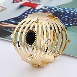 RHYJKOJ Bracelet Bracelets à la Mode de Bracelets d'acier Inoxydable pour la Couleur argentée de Cadeau de Bijoux de Manchette de Femme