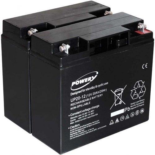 akku-net Blei-Gel Akku für USV APC Smart-UPS 1500 20Ah (ersetzt auch 18Ah), 12V, Lead-Acid Smart Ups 1500 Batterie