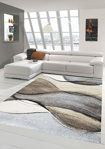Living designer stanza tappeto tappeto moderno basso moquette design barocco heather brown in taupe grigio größe 200 x 290 cm