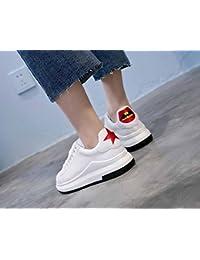 Femmes Chaussures plates Chaussures de sport décontractées 2017 Automne Nouvelle plate-forme Chaussures Rouge Lèvres Brodées Petites Chaussures Blanches Chaussures de course pour fille
