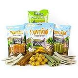 Vegane Hunde-Leckerli im Paket, 4 Tüten mit verschiedenen Leckerli (ca. 500g, 40 Leckereien) - Gemischt