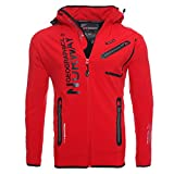 Geographical Norway Richier Royaute - Giacca Funzionale da Uomo Softshell Rot m