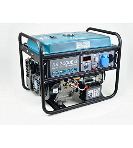 K&S | Könner&Söhnen | Gas- und Benzin-Stromaggregat | 5.500 Watt | KS7000EG | Dual Fuel | Stromerzeuger