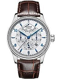 PARNIS 2117 Complicated Tion para 43 mm de estilo clásico de hombre automático reloj calendario completo