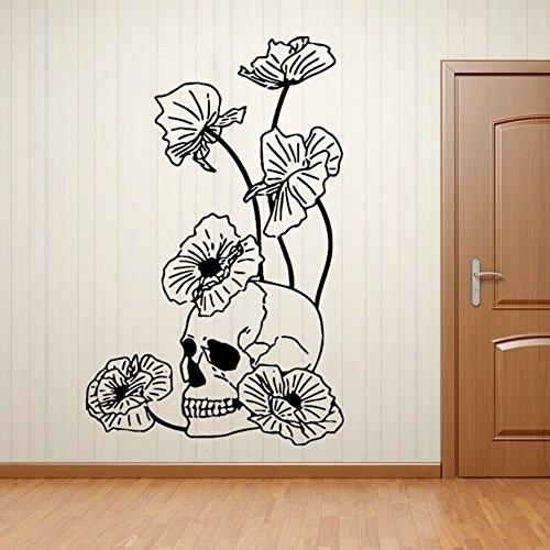 wandaufkleber wandtattoos Ronamick Halloween Skelett Hintergrund dekoriert Wohnzimmer Schlafzimmer Wandtattoo Sticker Wanddeko (Schwarz)