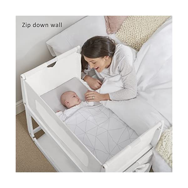 SnuzPod 3 Bedside Crib - White Snuz SnuzPod 3 has added functionality, a lighter bassinet and a more breathable sleeping environment. More than just a bedside crib; use as a bedside crib, stand alone crib or moses basket/bassinet. Simply attach the crib to your bed using straps provided (fits frame and divan beds) and your ready use as a bedside crib. The 9 different height settings allow you to ensure the crib is the right height for your bed (31-63cm) New! SnuzPod 3 now comes with an optional reflux function, by tilting the crib and setting an incline to reduce reflux symptoms little one can get a better nights sleep. 2