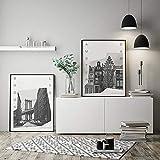 MILUKA Confezione di 2 Poster da Incorniciare per Decorazione de Parete per Quadro di Stile Fotografico   Poster di Città e Viaggi Coordinates   Amsterdam y Brooklyn Bianco e Nero 50x70cm