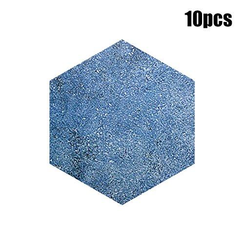 10 Stück 3D Wandsticker, Manadlian Aufkleber für Wohnung Selbst Klebstoff Fliese Fußboden Wandtattoo Aufkleber DIY Küche Bad Dekor Hexagon Warm Tapete (A)