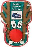 XXL Rentier Kostüm Auto Rudolf Rentierkostüm Car Red Nose Autokostüm Reindeer 45cm Katjas Dreamland