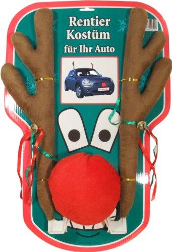 XXL Rentier Kostüm Auto Rudolf Rentierkostüm Car Red Nose Autokostüm Reindeer 45cm Katjas Dreamland Test