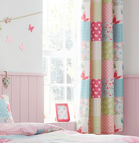 patchwork-floral-rose-vichy-bleu-vert-1676x-1829cm-168cm-x-183cm-anneau-de-rideaux