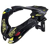 O'Neal Tron Neckbrace Assault Schwarz Neon Gelb MX Moto Cross Enduro Nacken Schutz, 0535-001