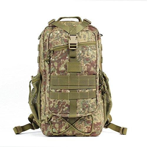 Outdoor Training professionale zaino alpinismo impermeabile Borsa Zaino da viaggio zaino camouflage, lupo brown Color cachi