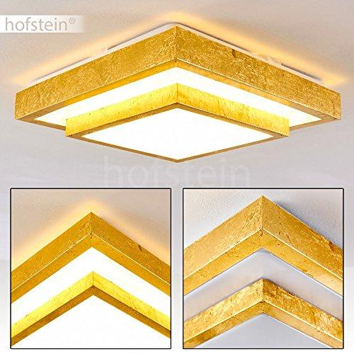 LED Deckenspot Sora 2-stöckig mit Stufen in Gold gebürstet - Moderner LED Deckenstrahler für Badezimmer, Flur, Wohnzimmer, Diele, Schlafzimmer - warmweißes Deckenlicht 1380 Lumen – 18 Watt – 3000K