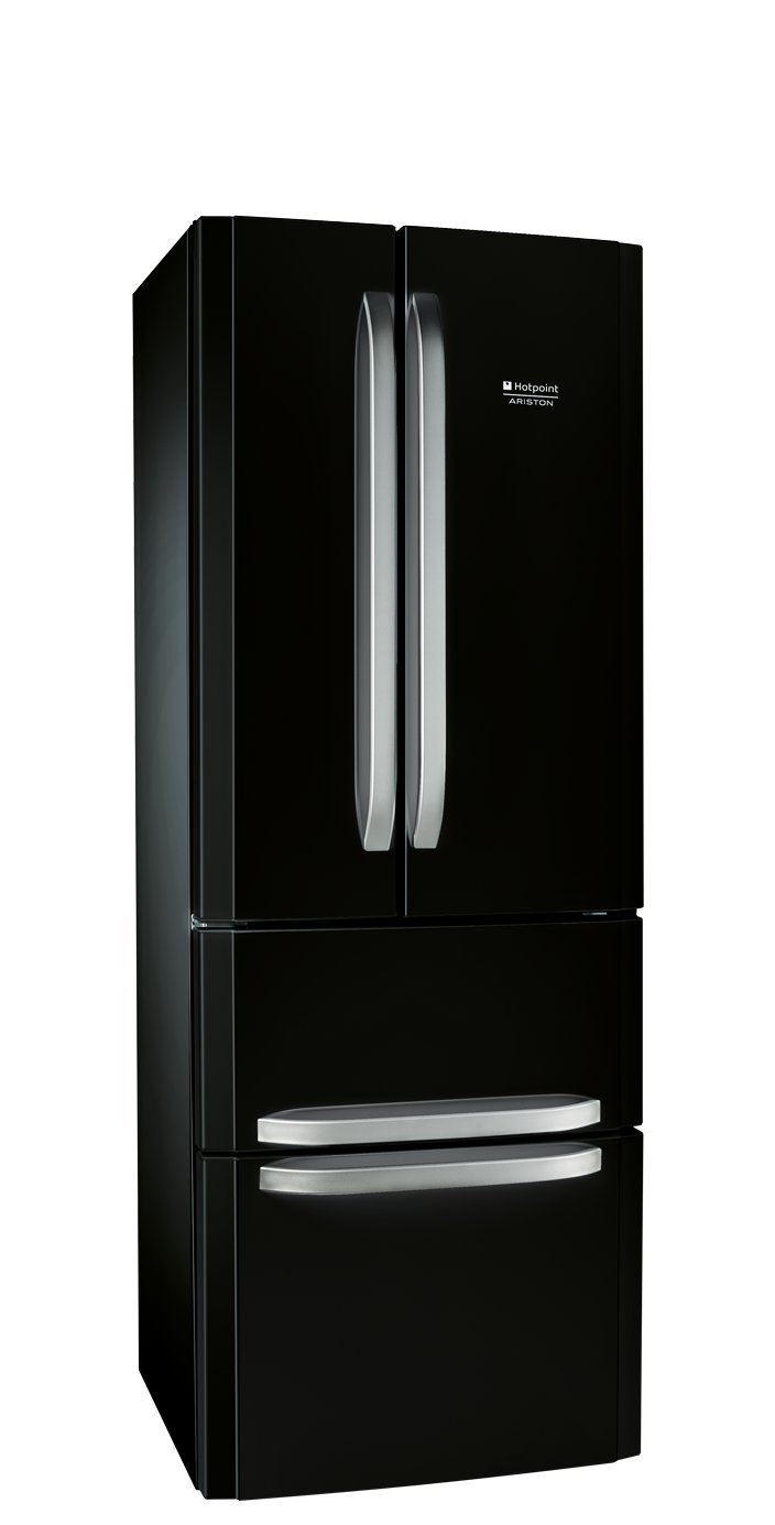 Hotpoint E4D AA B C side-by-side refrigerator - side-by-side fridge-freezers (freestanding, Black,