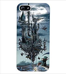 ColourCraft Flying Castle Design Back Case Cover for APPLE IPHONE 5S