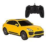 Rastar - Coche teledirigido 1:24, Porsche Macan Turbo (amarillo) (ColorBaby 85204)