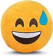 وسادة دائرية صفراء من Emoji Smiley Emoticon - LOL