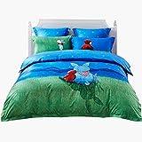 fscz 4 Stück Bettwäsche Bettwäsche Kinder Herbst Und Winter Baumwolle 1,5 M Bettbezug Laken Cartoon 150 × 215 cm