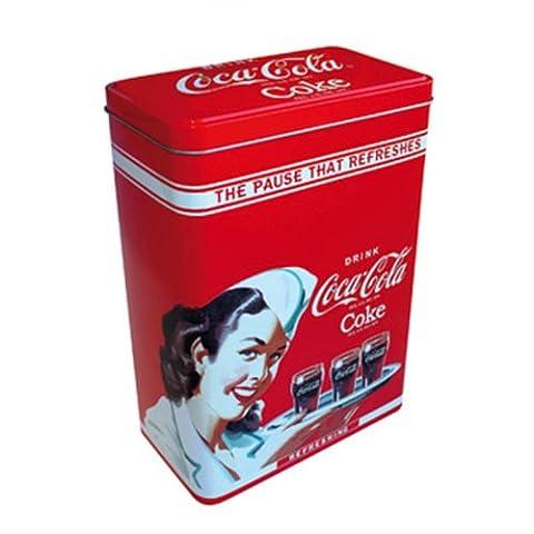 Boite métal rectangulaire Grand Modèle Céréales Coca Cola Diner