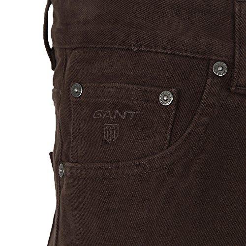 GANT Herren Regular Straight Soft Twill Jean Dark Brown