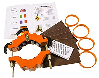 Creative Bottle Cutting - BOTTLE CUTTER Cuts bottles from 43 to 102 mm diameter Strong and Durable Ideal for making creative gifts candle holder ornaments etc Full instructions included 90 day peace of mind guarantee Environmentally friendly way of re-usi