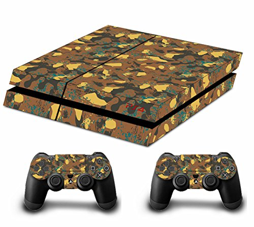 camouflage-tarnung-decal-skin-sticker-aufkleber-for-playstation-4-ps4-console-controllers-gold