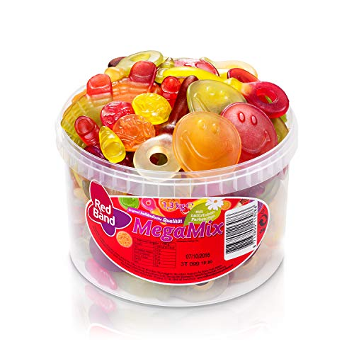 Red Band Fruchtgummi Mega Mix 1,3 kg Dose | Fruchtgummi