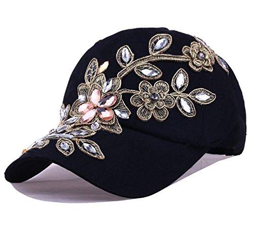 54cm Mädchen Style Cap Baseballcap rosa U= ca Mütze glitzer Pailletten
