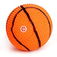 ZFWB Dog toy bark dog ball rubber rugby football basketball interactive toy one size 2