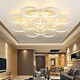 SSBY Modernes, minimalistisches Acryl LED Deckenleuchte kreative Wohnzimmer Lampe Acryl kunst Schlafzimmer Esszimmer runden Lampen Beleuchtung/weiß/110-220 V, 3 grosse