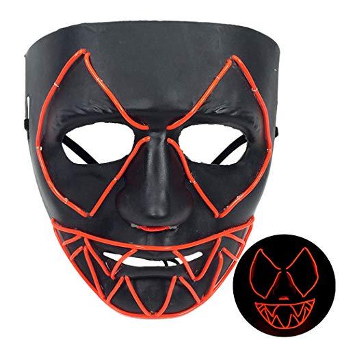 Halloween Maske LED leuchten Scary Party Maske Kostüm Maske Halloween Party Prop