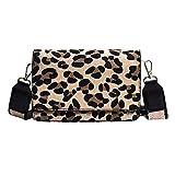 HCFKJ Tasche, Leopardenmuster kleine Klappe Taschen für Frauen Winter Schultertasche Handtasche Handtaschen (MR)