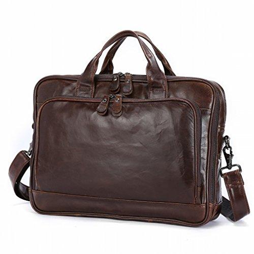 Preisvergleich Produktbild HTB Beiläufige Art und Weisemannhandtaschengeschäft Aktenkofferquerschnitt Große Kapazität Mannhandtasche,Kaffee