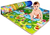 Home Crust Waterproof, Anti Skid, Double Sided Baby Crawling Play Mat, 6x4ft