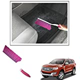#10: Vheelocityin Shiny Pink Hard And Long Bristles Carpet/ Interior Car Cleaning Brush For Ford Endeavour New