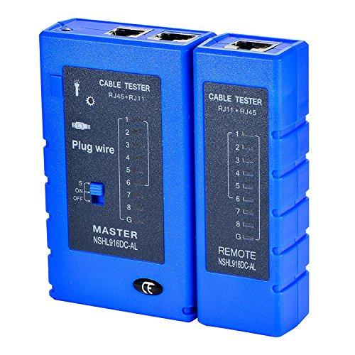 Cat5 Netzwerk Tester (LEAGY Netzwerk Kabel Tester Test Tool RJ45 RJ11 RJ12 CAT5 CAT6 UTP USB LAN Draht Ethernet)