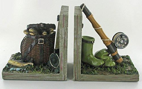 Angeln Buchstützen Einzigartige Neuheit Regal Tidy für Bücher, DVDs, Vinyl & Sporting Goods ideal Geschenk für Angeln Hobby Fans (Regal Angel Fisch)