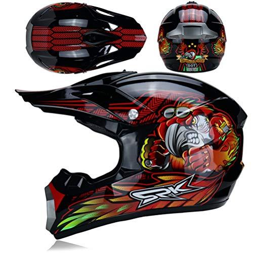 Casco integrale per moto Cross-Country adulto caschi moto antiurto per tutte le stagioni motocross racing Protezioni di sicurezza 24 colori