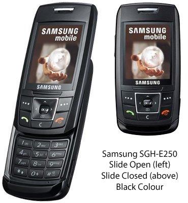 Samsung E250Slide Design Bluetooth-Handy–Schwarz–Virgin PAYG-(Zahlen als Go Sie in T-Mobile Netzwerk System) (UK Tri Band Modell)
