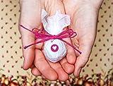 Seedball Gastgeschenk mit Herz, Fuchsie