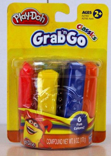 Play-Doh - A2763 - Grab 'n Go - 6-Pack - Klassische Farben - Rot, Gelb, Grün, Weiß, Blau & Orange - je 28,3 Gramm Play-doh Rot